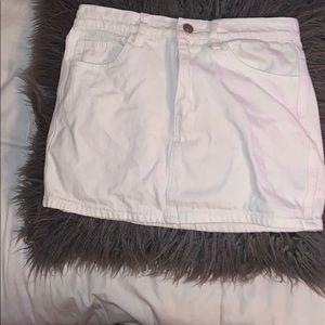 Forever 21 white jean skirt